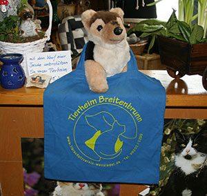 Stofftasche mit Tierheimaufdruck